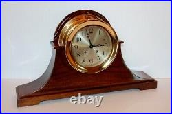 Chelsea Antique Ships Bell Clock With 6 Dial Red Brass Case Ca 1912 Restored