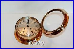 Chelsea Antique Ships Bell Clock With Rare Engraved 6 Dialred Brass 1917