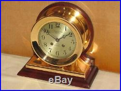 Chelsea Antique Ships Bell Clockcommander Model 6 In Dial1903red Brass