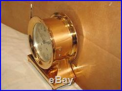 Chelsea Antique Ships Bell Clockcommodore Model6 In Dial1917red Brass
