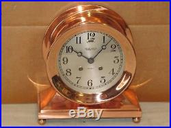 Chelsea Antique Ships Bell Clockcommodore Model6 In Dial1929red Brass