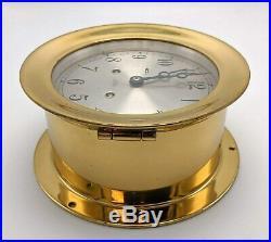 Chelsea Classic Maritime Ship's Bell Clock Brass 1975-1979