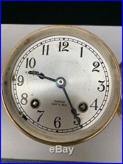 Chelsea Classic, Maritime Ship's Bell Clock, Solid Brass, 4 7/8 Dia