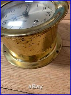 Chelsea Clock Ship's Bell Clock in Brass As Is Not Tested. No Key