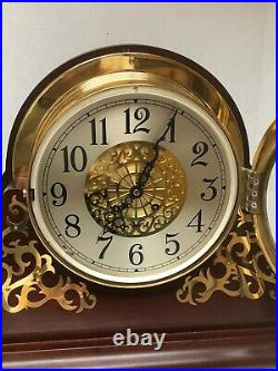 Chelsea Clock Shreve Crump & Low 8 1/2 Grand Dial Ship's Bell and Original Box