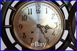 Chelsea Mariner Ship Wheel Bell Clock 6 Dial with Masonic Presentation Ca 1928