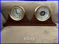 Chelsea Ship's Bell Clock and Barometer Set 3.75 Dial with Base, Key & Screws