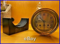 Chelsea Ship's Bell Clock with Key and Stand
