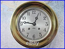 Chelsea Ships Bell Clock 7-1/2 Brass