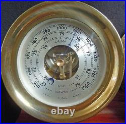 Chelsea Ships Bell Clock & Barometer Set With Wood Stand 4 1/2 Boston 1980-84