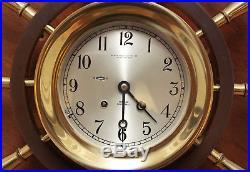 Chelsea Ships Bell Clock Yacht Wheel Brass Mechanical Baker Lyman New Orleans