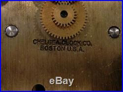 Chelsea Ships Bell Clock with Mahogany Base Large 6 Dial