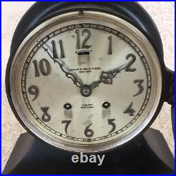 Chelsea Ships Bell Commodore Clock 6 Special Dial Gun Metal Finish Ca. 1927