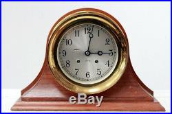 Chelsea Ships Bell Mantle Clock mint clean works