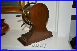 Chelsea Ships Wheel Ships Bell Clock 100% Original Estate Fresh Working Perfect