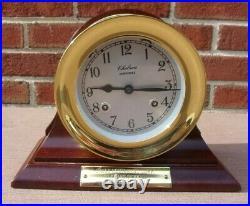 Chelsea Shipstrike 4 1/2 Ships Bell Clock WithCradle Screw on Bezel Key