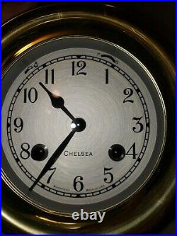 Chelsea Shipstrike 4.5 Ships Bell Clock With Key-NEW-Never wound #40013 Brass