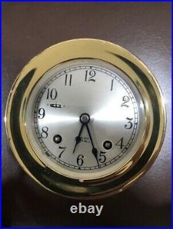 Chelsea Vintage 41/2 Ships Bell Clock Brass