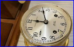 Chelsea Vintage Ship's Bell Clock & Barometer Set Boston U. S. A