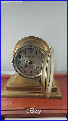 Chelsea ship Bell Henry Birks & sons clock, VERY RARE, serviced works good