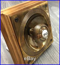 Claverley Brass Antique Victorian Period Bell Pull Doorbell Traditional Door