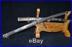 Collectable Handmade Japanese SAMURAI SWORD Military Katana Warrior&Belle SAYA