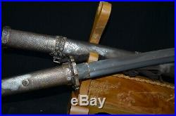 Collectable Handmade Japanese SAMURAI SWORD Military Katana Warrior&Belle SAYA