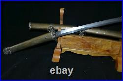 Collectable Japanese Samurai Sword Katana Warriors&Belles Saya Brass