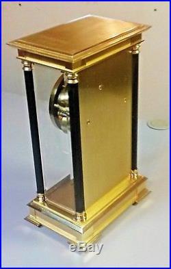 Crystal Regulator Double Bell Strike 8 Day / Beveled Glass / Heavy Brass Clock