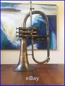 Custom Adams F1 Flugelhorn in Antique Lacquer with Red Brass Bell