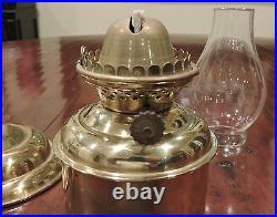 DHR Brass Gimbal Oil Lamp Sconce Smoke Bell Lantern Vintage Wall Mount