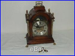 Dutch Bracket Mantel Shelf Clock, Rolling Moon phase/Calendar, 2 Bells