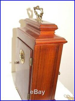 Dutch WARMINK/WUBA Bracket/Mantel/ Clock, 2 Bell Chimes, 8 day movement, Oak Case