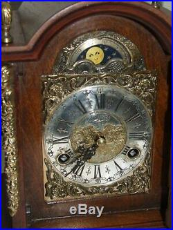 Dutch WARMINK/WUBA Bracket/Mantel/ Clock Moonphase 2 Bell Chimes