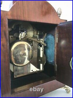 Dutch Warmink 8 Day Bracket/Mantle Clock Moonphase/Calendar, 2 bells, Silent opt
