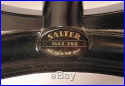 ENGLISH BLACK SALTER Metric KITCHEN SCALE BRASS BELL WEIGHT