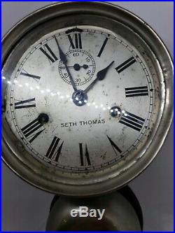 Early 20th Century Seth Thomas External Bell Ships Clock