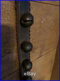 Early Brass 12 Jingle Bells Beautiful Leather Belt Strap Horse Neck Christmas