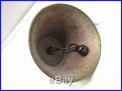 Early Swiss Brass Cow Farm Bell Tool Goat 1878 Saignelegier Chiantel Fondeur