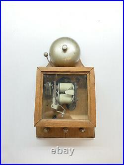 Edwardian Era 1901-1910 Oak, Brass & Electric Butlers Ringer or Door Bell