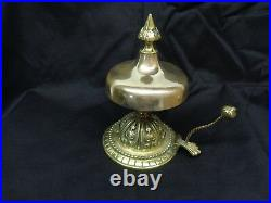 Elegant Antique Brass Hotel Desk Service Bell