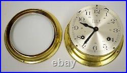 Elgin 132-071 Ship's Bell 4 Jewel West Germany Nautical Marine Brass Clock Vtg