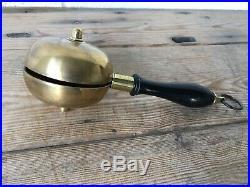 Fine Antique 19th century brass and ebony muffin bell, fire brigade