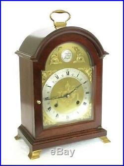 Fine Comitti London Bell-striking Bracket Clock Mahogany, Brass Fittings, Hermle