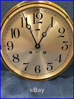 Fully Restored LARGE Chelsea Ships Bell Clock