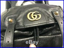 Gucci Gg Re(belle) Mens's Large Grain Leather Backpack Rucksack Black Msrp $3490