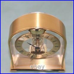 HALLER Mantel Clock BELL CHIME Vintage TOP! Translucent DESIGN! Skeleton Germany