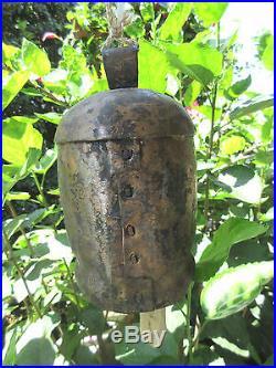 HANDCRAFTED ANTIQUE 8 GARDEN BRASS MEDITATION BELL WithNEW WOOD PENDULUM KNOCKER