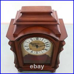 HERMLE Mantel TOP! Clock Vintage RARE MODEL! DOUBLE BELL CHIME Germany SERVICED
