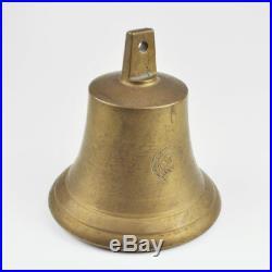 Heavy Great Old Ship's Bell Brass Brass Bell 1839 Brass Bell
